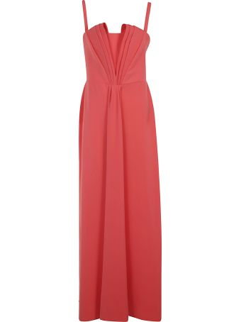 Emporio Armani Pleated Evening Dress