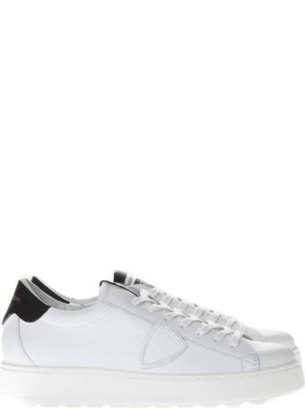 Philippe Model Black & White Leather Sneakers