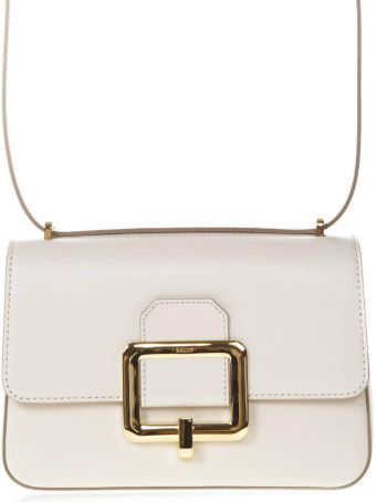 Bally Janelle White Leather Bag
