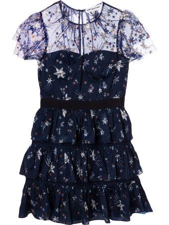 self-portrait Star Printed Mini Dress