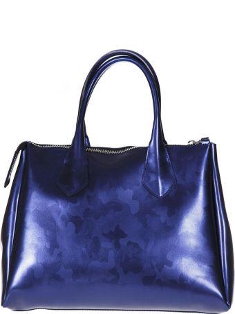 Gianni Chiarini Fourty Blu Mimetic Ecoleather Bag