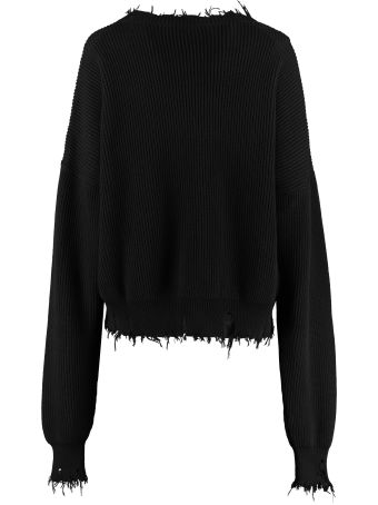 Ben Taverniti Unravel Project Crew-neck Cotton-cashmere Pullover