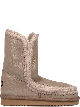 Mou Gray Glitter Eskimo 24 Low Boot