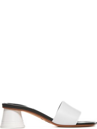 MM6 Maison Margiela Textured Heel Mules