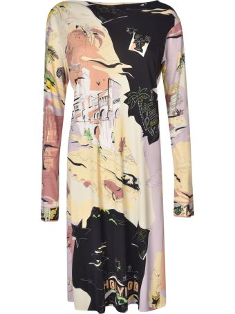 Emilio Pucci Belted Printed Dress