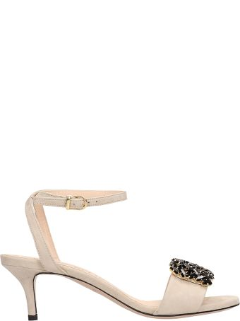 Marc Ellis Beige Suede Sandals