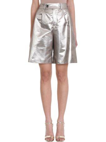Mauro Grifoni Silver Cotton Shorts