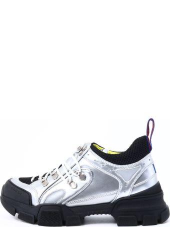 Gucci Sneaker Flashtrek Silver Leather