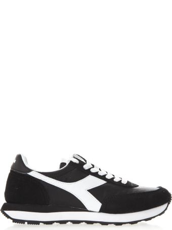 Diadora Black And White Koala H Sneakers In Suede And Nylon