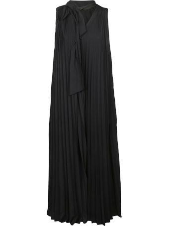 Fabiana Filippi Bow-tie Neck Pleated Dress