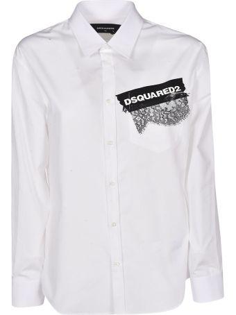 Dsquared2 Appliqué Lace Shirt