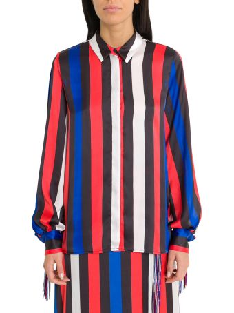 MSGM Fringed And Striped Shirt