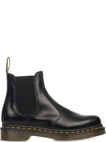 Dr. Martens Black Smooth Brushed Leather Low Boot