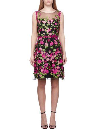 Marchesa Notte Floral Dress