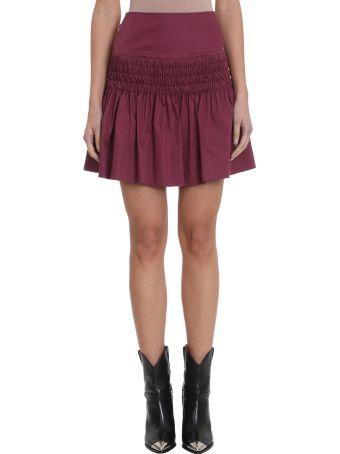 Isabel Marant Étoile Oliko Burgundy Cotton Skirt
