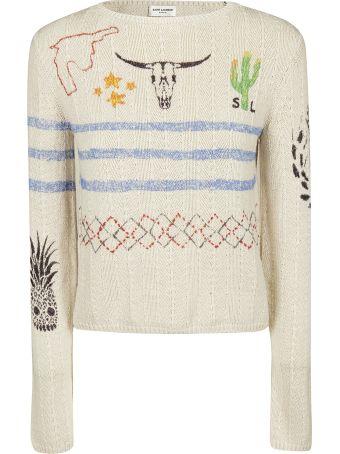 Saint Laurent Arizona Printed Sweater