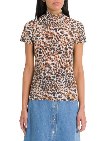 Nanushka Leopard Print Top Una