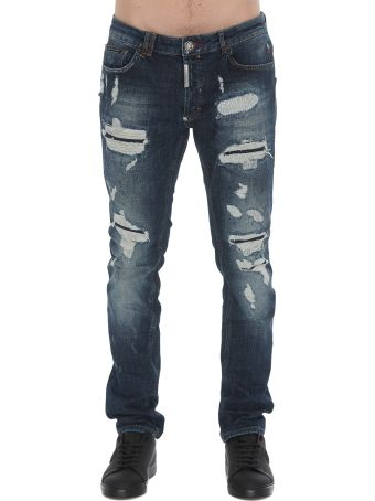 Philipp Plein Super Straight Cut Statement Jeans