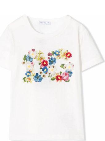 Dolce & Gabbana White Cotton Jersey T-shirt
