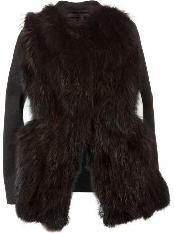 Bully Trimmed Fur Jacket
