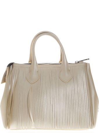 Gianni Chiarini Handbag Fourty In Vinyl Cream