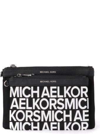 b24b71d1684e Michael Kors Michael Kors Lg Pouch Duo Black Nylon And Leather Double  Pochette - NERO - 10710323 | italist