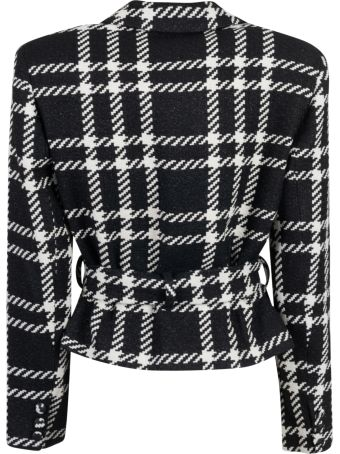 Federica Tosi Checked Belted Blazer