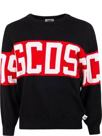 GCDS Band Logo Knit Sweatshirt