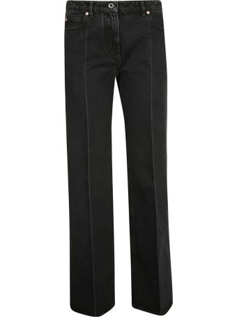 Valentino Contrast Logo Print Flared Jeans
