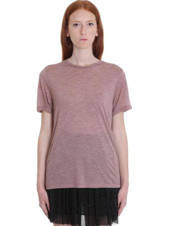 Isabel Marant Étoile Dena T-shirt In Bordeaux Viscose