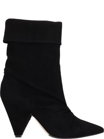 The Seller Black Suede Leather Ankle Boots