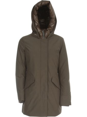 Woolrich `s Artic Parka Nf Polished Padded Neck W/hood
