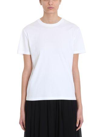 Jil Sander Basic White Cotton T-shirt