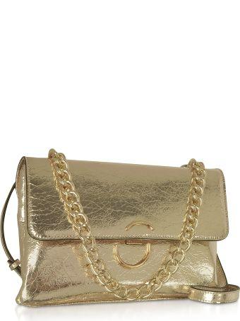 Roccobarocco Bento Laminated Eco-leather Shoulder Bag