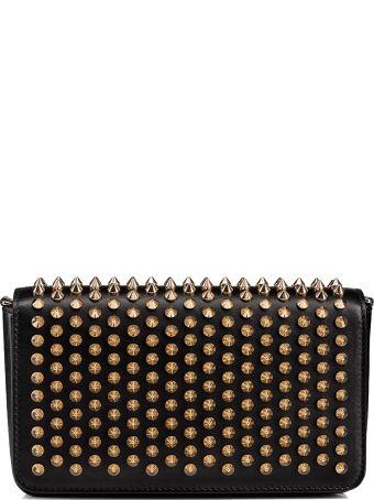 Christian Louboutin Black/gold Leather Shoulder Bag