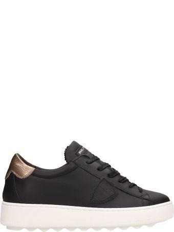 Philippe Model Black Leather Madeleine Sneakersr