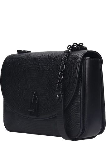Rebecca Minkoff Love Too Shoulder Bag In Black Leather