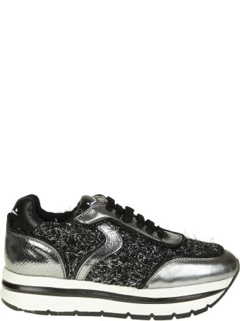 """Voile Blanche """"may"""" Sneakers In Laminated Leather And Wool Lurex Effect"""