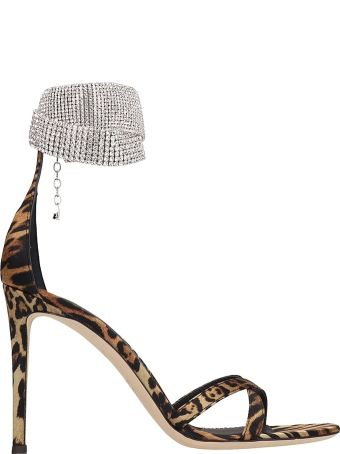 Giuseppe Zanotti Animalier Technical Fabric Sandals