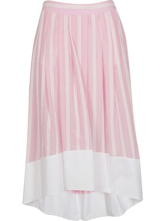 Roberto Collina Striped Print Wide Skirt