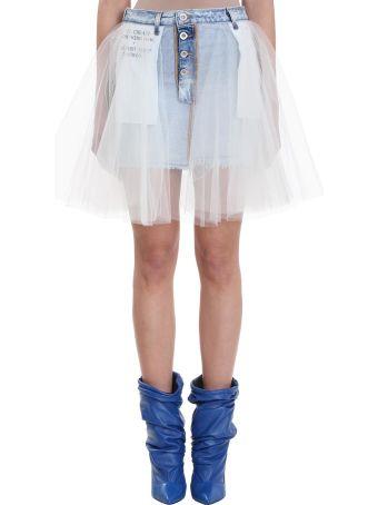 Ben Taverniti Unravel Project Blue Denim Mini Skirt