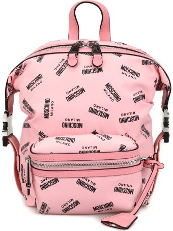 Moschino All Over Logo Print Unstructured Backpack 76178204b1224