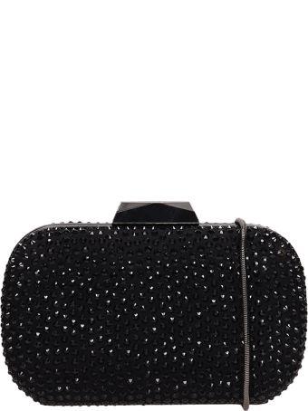 Lola Cruz Clutch Bag In Black Fabric