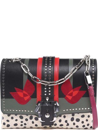 Paula Cademartori Alice Love Snakeskin And Leather Shoulder Bag