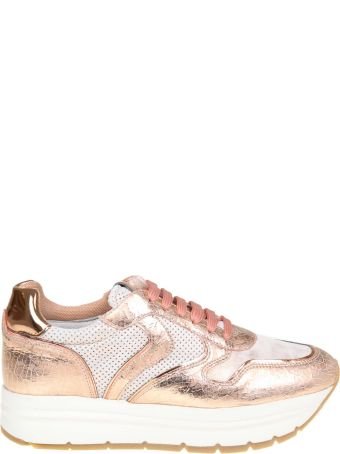 "Voile Blanche ""may"" Sneakers In Leather And Fabric Color Pink"