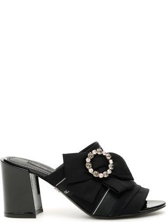 Dolce & Gabbana Crystal Buckle Keira Mules