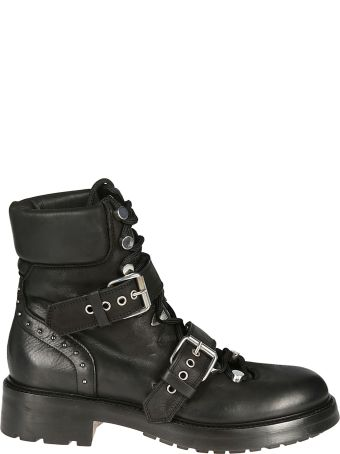 Strategia Buckled Biker Boots