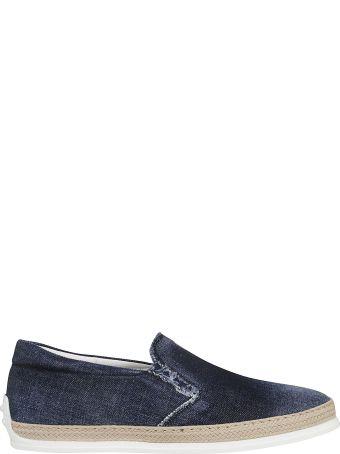 Tod's Denim Slip-on Sneakers
