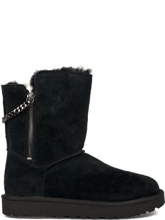 UGG Black Classic Short Sparkle Zip Low Boot