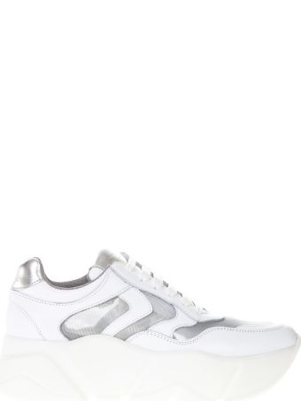 Voile Blanche White Monster Leather Sneaker